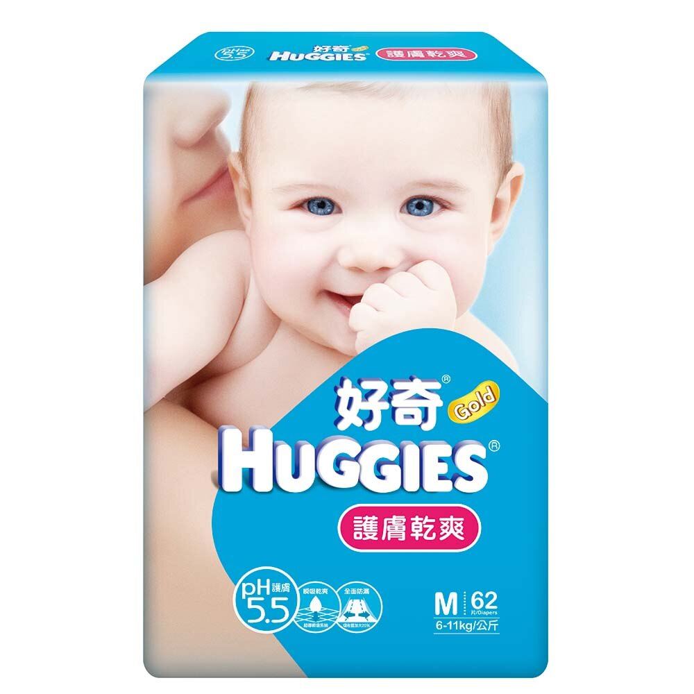 好奇 PH5.5 護膚乾爽 紙尿褲 尿布 M58+4 片/包