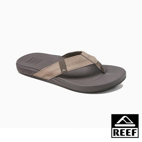 【新品9折↘】REEF能量彈力系列最適合亞洲人腳型側邊縫製織帶舒適好穿防滑耐磨男款升級版夾腳拖人字拖鞋.棕RF0A3FDIBRO