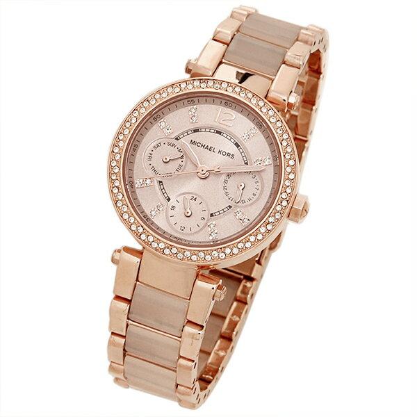 【限時8折 全店滿5000再9折】MichaelKors MK 大粉玫瑰金 水鑽  陶瓷  三環 手錶 腕錶 MK6110 美國Outlet正品代購 2