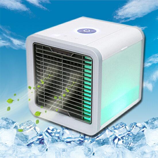 ●MYCOLOR●可發光水冷扇冷風機迷你小風扇桌面空調LED【W62-1】
