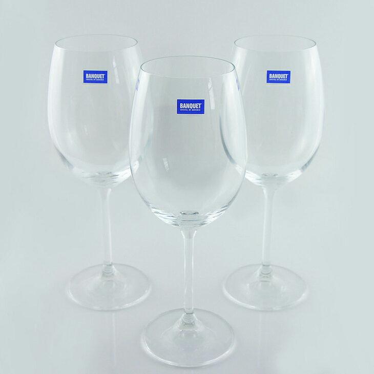 水晶紅酒杯6入裝《Banquet Crystal 歐洲製水晶葡萄酒杯 450ml 》 1