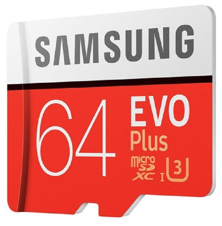Samsung EVO Plus 100MB/s 64GB microSDXC Class 10 64G microSD micro SD SDXC UHS-I U3 C10 MB-MC64GA with Original SD Adapter 0