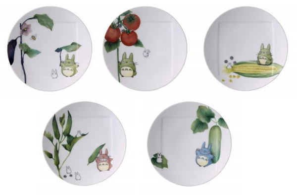 【真愛日本】18021100005精緻五入瓷盤15.5cm-蔬果彩繪宮崎駿龍貓TOTORO陶瓷盤斯里蘭卡