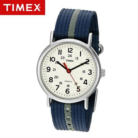 TIMEX天美時腕錶 復刻冷光Weekender系列藍灰帆布手錶 柒彩年代~NE1676~