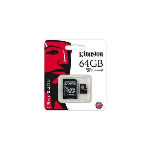 Kingston 64GB microSDXC 45MB/s UHS-I U1 Class 10 64G microSD micro SD SDXC C10 Flash Memory Card SDC10G2/64GB + Multifunctional Protective Memory Case 0