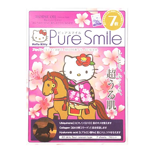 日本Pure Smile Hello Kitty 馬油精華面膜 (一盒七入) 卡通聯名《ibeauty愛美麗》