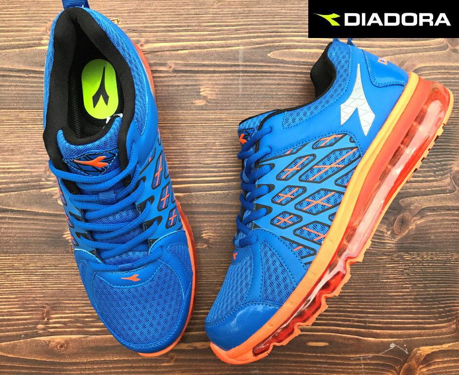 【剪標品出清-26號】義大利國寶鞋-DIADORA迪亞多納 男款乳膠動能全氣墊運動慢跑鞋