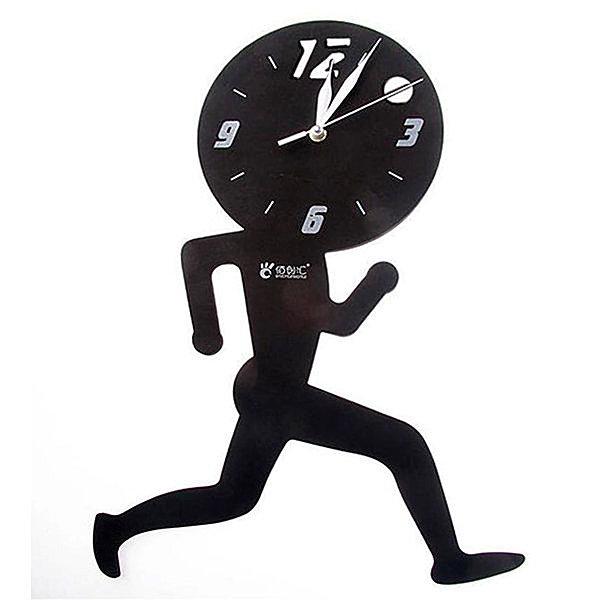 BO雜貨【YV4104】 奔跑小人掛鐘 歐式時尚DIY掛鐘 時鐘 創意鐘