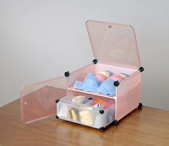 粉色貼身衣物DIY收納架