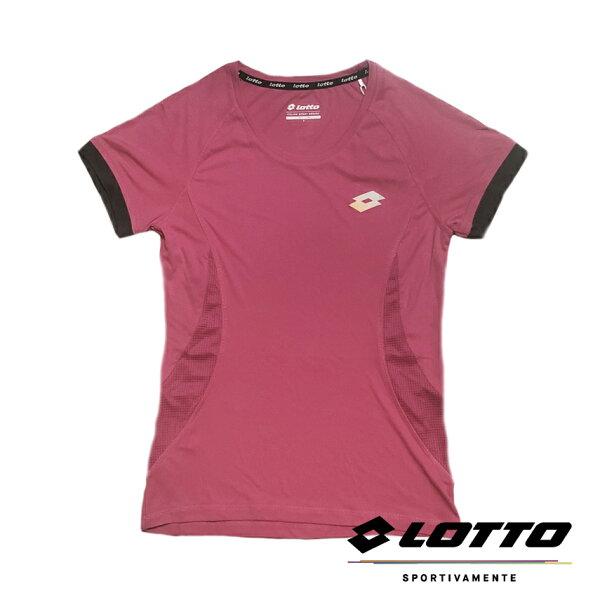 【巷子屋】義大利第一品牌-LOTTO樂得女款極輕量慢跑T-SHIRT運動衫[LT6BWT1372]粉超值價$290