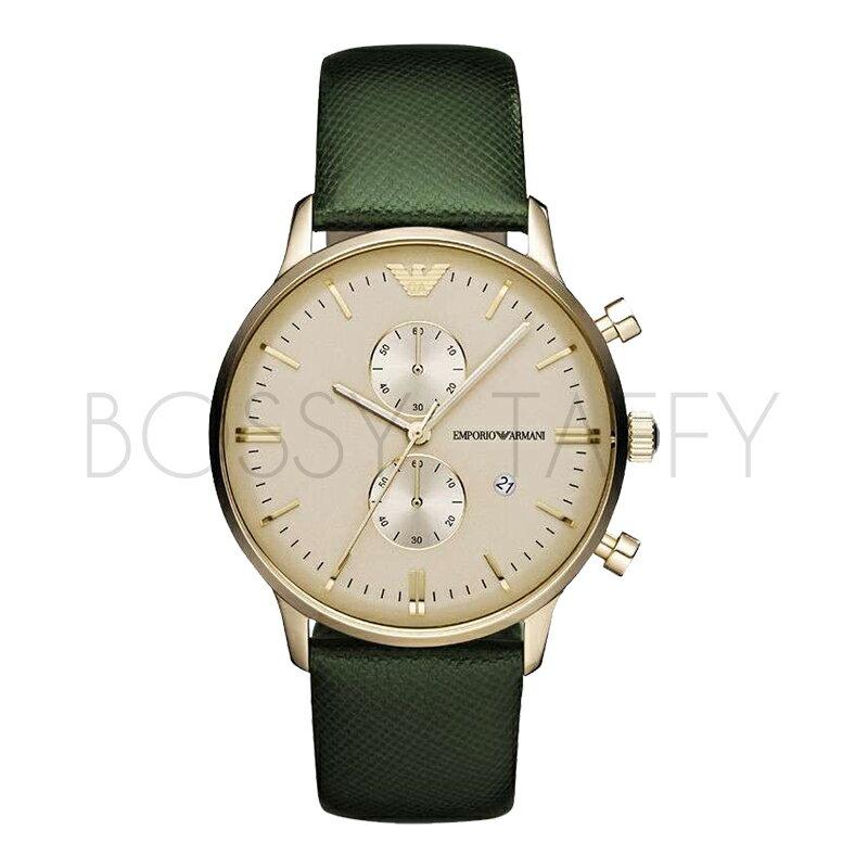 AR1722 ARMANI 亞曼尼 玫瑰金蝴蝶扣商務手錶 男錶