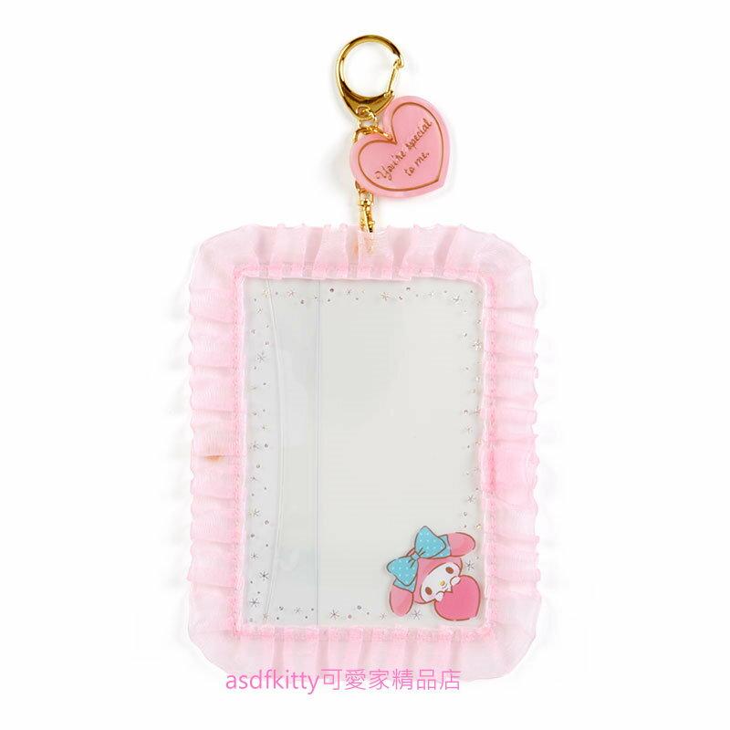 asdfkitty*美樂蒂緞帶相框鑰匙圈/掛飾/吊飾/擺飾-日本正版商品