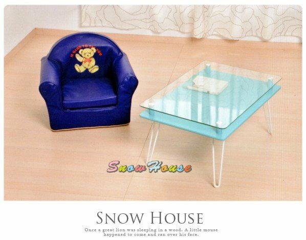 ╭☆雪之屋居家生活館☆╯AA586-01太子椅(藍色皮)/兒童沙發/小沙發/休閒椅/和室椅/造型椅/單人沙發/沙發矮凳