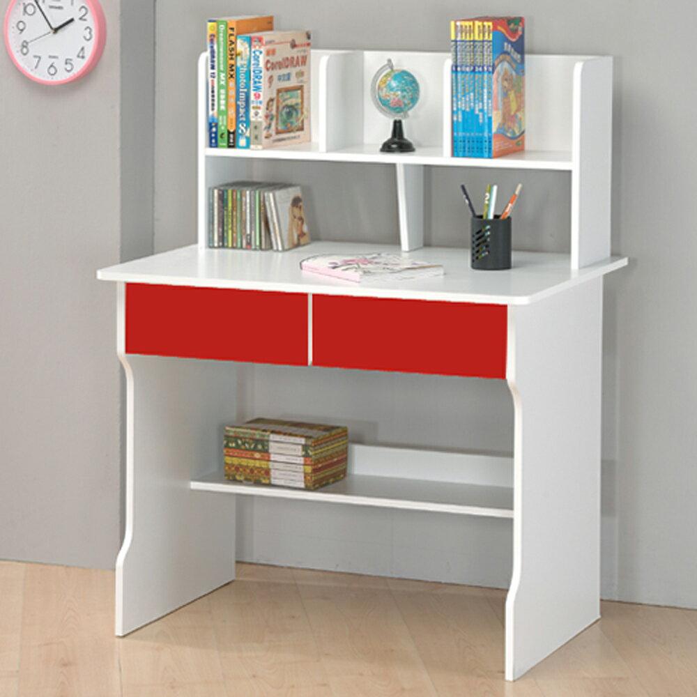 書桌/電腦桌 TZUMii 日式雙抽層架式書桌(三色可選)