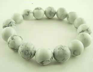 白色松石手鏈 水晶松石手鏈 男士手鏈