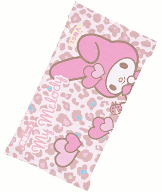 X射線【C172021】美樂蒂日本製除菌濕紙巾(15枚入),嬰兒濕紙巾/溫濕紙巾/衛生紙/面紙/經期用濕紙巾/隨身包