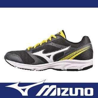 【出清65折!】萬特戶外運種動 MIZUNO美津濃 K1GR161271 男慢跑鞋 MAXIMIZER 18 耐磨大底 輕運動 快走 寬楦 黑黃色