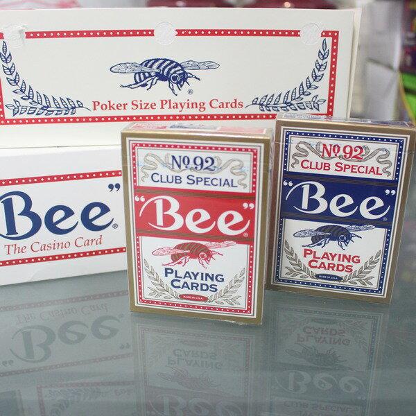 撲克牌Bee92撲克牌美國92蜜蜂牌(正美國原裝)一件12大盒入(一大盒12副入){促160}~共144副入~