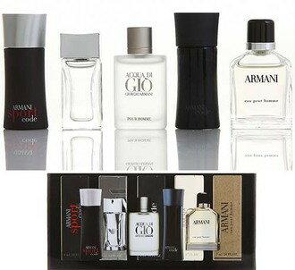 香水1986☆GIORGIO ARMANI 男性小香水禮盒 5件組