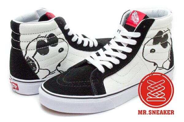 ☆Mr.Sneaker☆VANSSK8-HiReissue聯名SnoopyJoeCool黑白