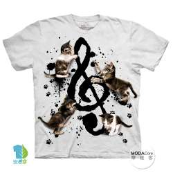 【摩達客】(現貨) 美國進口The Mountain 貓與音符 純棉環保短袖T恤