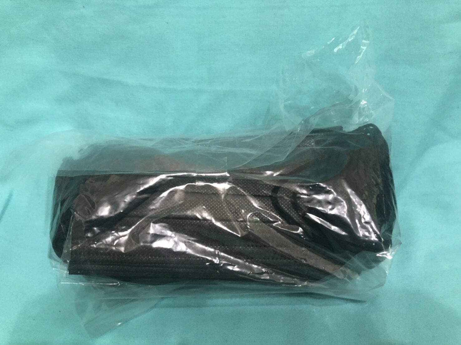 [Purple屋]美迪寶 醫療平面口罩 霸總黑 一盒50入 台灣製(1-6盒下單區)