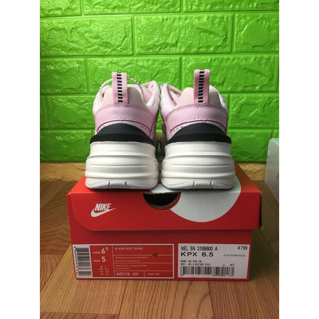 【日本海外代購】Nike Monarch M2K Tekno 老爹鞋  粉白粉勾 厚底增高 女 AO3108600