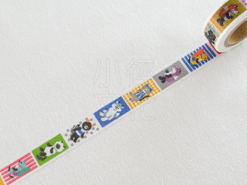 *小徑文化*日本進口 tsutsumu 和紙膠帶 - 動物玩偶 ( M-0099 )