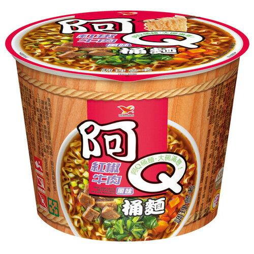阿Q桶麵 紅椒牛肉風味 101g【康鄰超市】