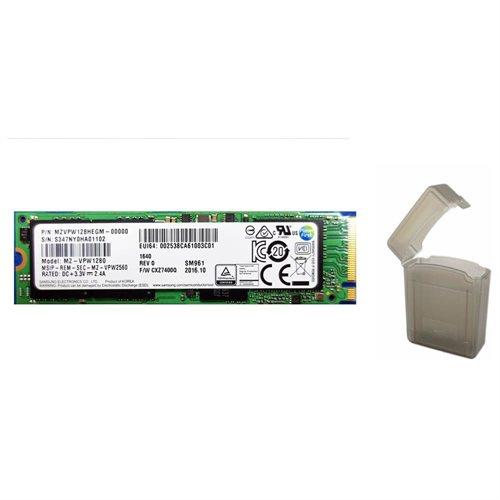 "Samsung SM961 128GB SSD 128G M.2 2280 PCIe Gen3 x4 PCI-Express 3.0 x4 NVMe 80mm Internal Solid State Drive MZ-VPW1280 + 2.5"" SSD case 0"