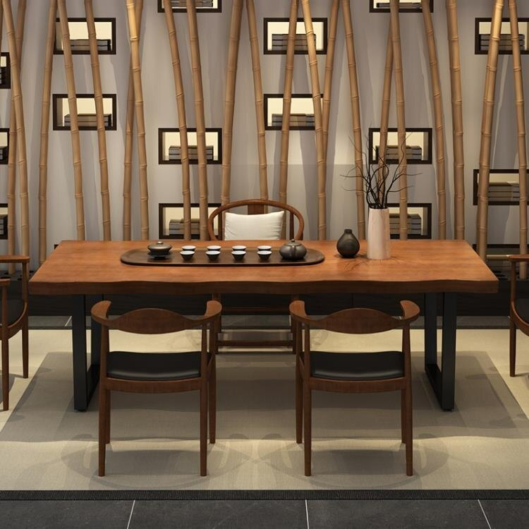 茶几 茶臺實木茶桌禪意新中式泡茶桌椅組合簡約現代辦公室洽談桌茶藝桌