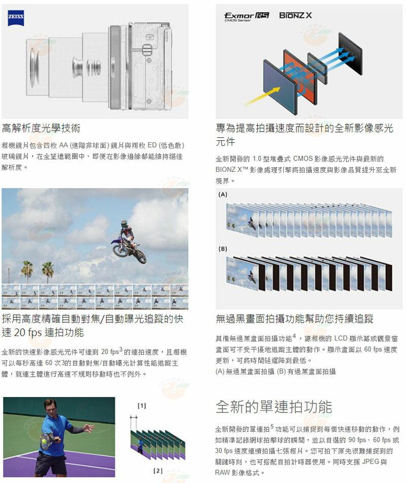 11 / 3前送原廠充電電池組+AGR2握把貼 SONY DSC-RX100VII RX100M7 七代 台灣索尼公司貨 3