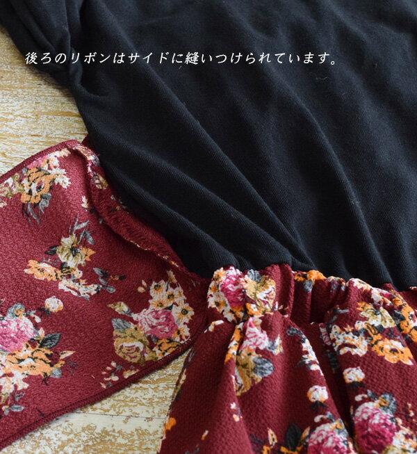日本e-zakka / 花紋長版連衣裙 / 32603-1800946 / 日本必買 代購 / 日本樂天直送(5500) 9