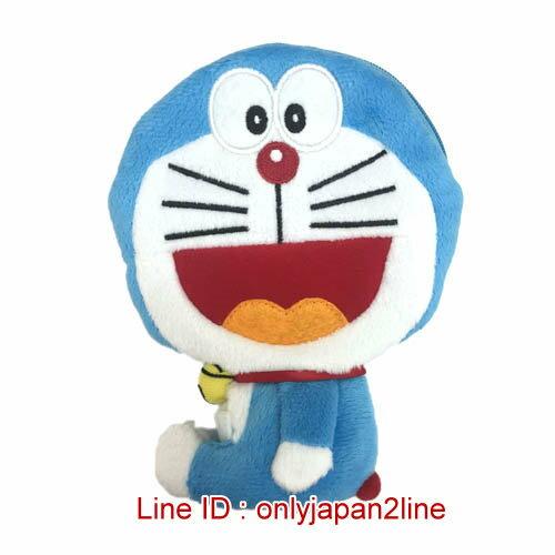 【真愛日本】16122800001 全身伸縮票卡零錢包-開嘴叮噹   Doraemon 哆啦A夢 小叮噹 票卡夾 零錢包