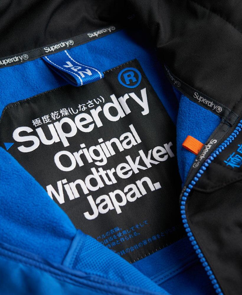 英國名品 代購 極度乾燥 Superdry Windtrekker 男士風衣戶外休閒外套 防水 黑色/寶藍色 4