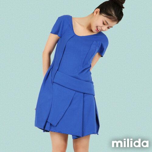 【Milida,全店七折免運】-夏季尾聲-素色款-厚棉立體造型設計 0