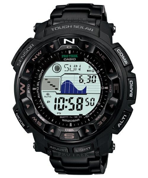 CASIO PRO TREK 登山錶 PRG-250BD-1DR月象潮汐三大感應器登山腕錶/50.6mm