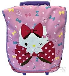 X射線【C738368】拉桿後背包18吋 kitty緞帶,兒童書包/雙肩包/拉桿包/拉桿旅行袋/書包/旅行箱/行李箱