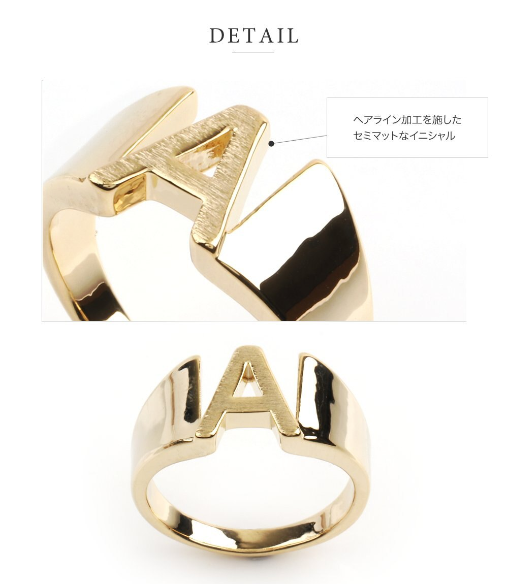 日本CREAM DOT  /  リング 指輪 レディース 15号 ワイドリング ファッションリング イニシャル ヘアライン加工 大人カジュアル シンプル 可愛い ゴールド シルバー  /  a03578  /  日本必買 日本樂天直送(1290) 5