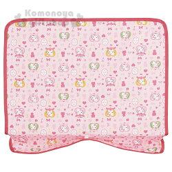 〔小禮堂〕Hello Kitty 可攜式餐墊《粉.多動作.愛心.草莓.鑰匙.40x36cm》