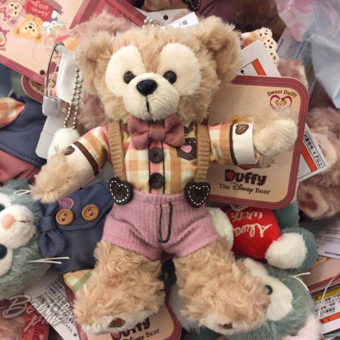 BEETLE PLUS 全新 現貨 DISNEY 迪士尼 DUFFY 2017情人節 樂園限定 達菲熊 鑰匙圈 站姿玩偶 吊飾 J-82