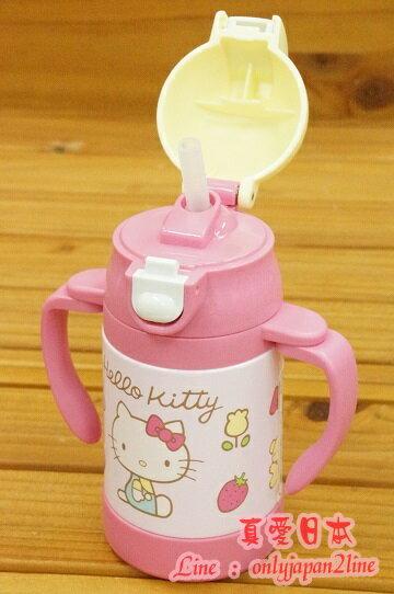 【真愛日本】16091000050超輕量不銹鋼雙耳杯240ml-KT蘋果粉   三麗鷗Hello Kitty凱蒂貓 杯子 鋼杯