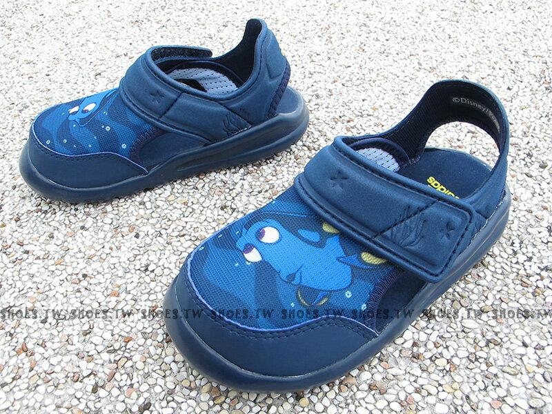 《下殺6折》Shoestw【BA9334】ADIDAS Disney Nemo 童鞋 涼鞋 護趾 迪士尼 多莉 Dory 深藍 小童