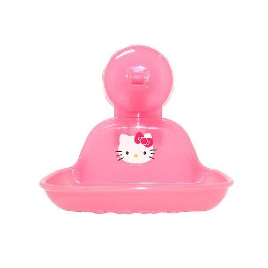 大賀屋 HelloKitty 吸盤式 肥皂盒 皂盒 肥皂 收納盒 浴室 三麗鷗 KT 凱蒂