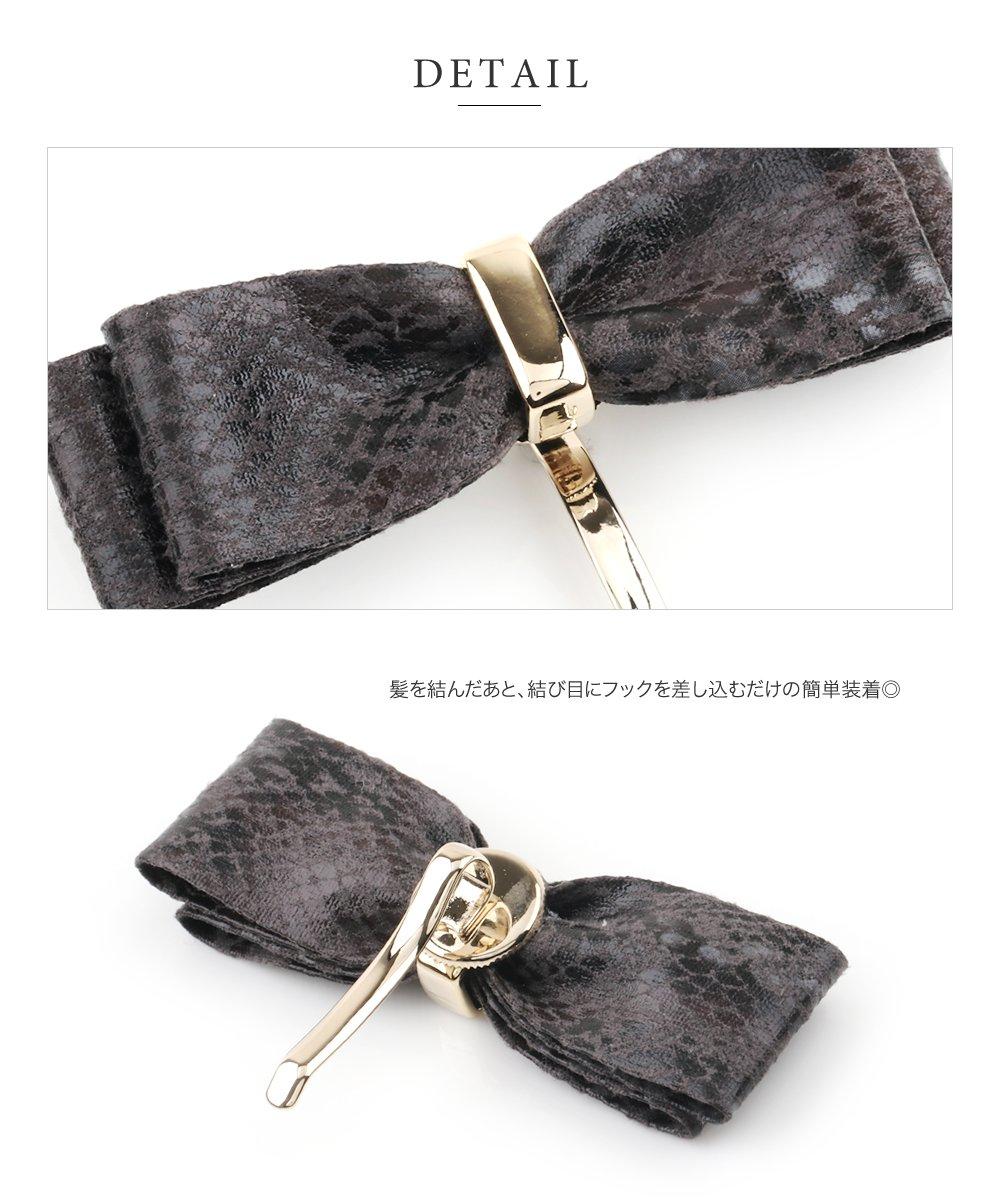 日本CREAM DOT  /  典雅人造皮蝴蝶結髮叉 髮飾  /  a03477  /  日本必買 日本樂天直送(1090) 3