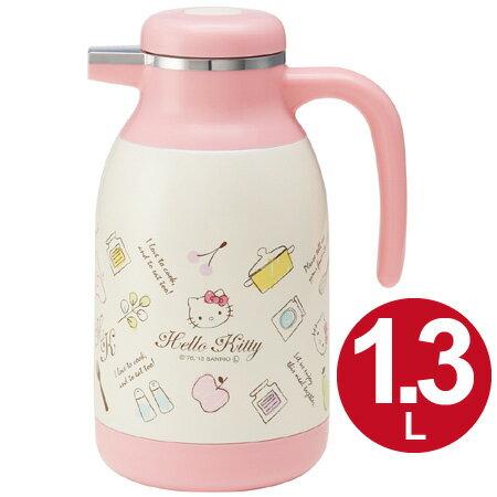 X射線【C242342】Hello Kitty不鏽鋼保冷水壺1.3L,水瓶/水壺/水罐/保冷瓶