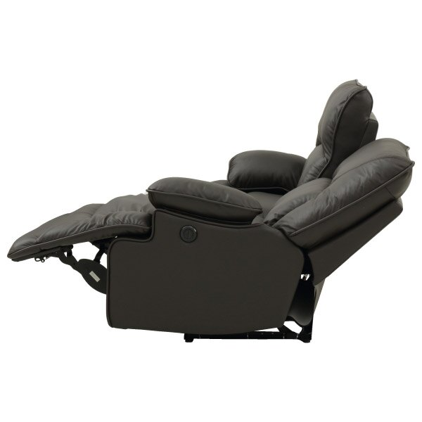 ◎(OUTLET)半皮2人用電動可躺式沙發 HIT DBR 福利品 NITORI宜得利家居 4