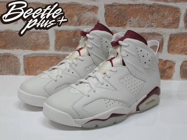男生 BEETLE NIKE AIR JORDAN 6 RETRO 白紅 魔力紅 老屁股 384664-116 10.5 1