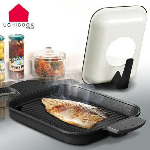 《逸品軒》UCHICOOK第一代日本製水蒸氣式健康蒸煮燒烤盤-黑(A03-13112)