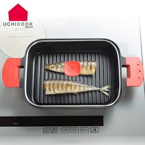 《逸品軒》UCHICOOK第二代日本製水蒸氣式健康蒸煮燒烤盤[玻璃蓋]-紅(UCS16RD)